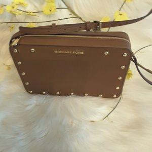 Michael kors genuine leather Sandrine stud LG  bag
